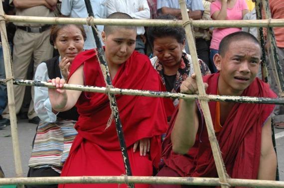 Tibetan protest Delhi